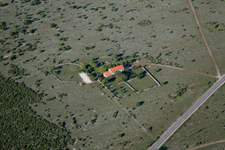 Aerial photo of the house on the village
