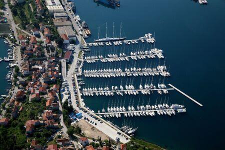 Aerial photo of the Yacht Marine.