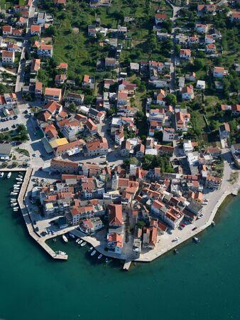 Aerial photo of the place Pirovac near Sibenik, Croatia