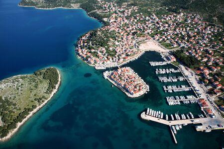 Aerial photo of island section of the Tribunj in Croatia