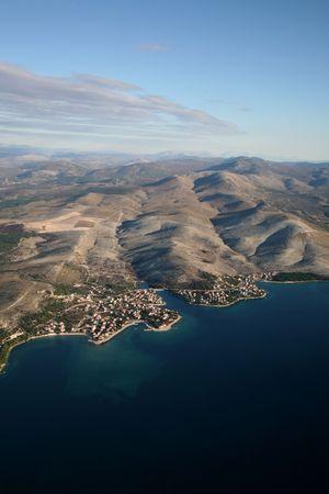 Aerial photo of the place Zaboric near Sibenik, Croatia