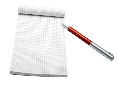 notebook and pen empty and isolated trimmed Stock Photo - 13338752