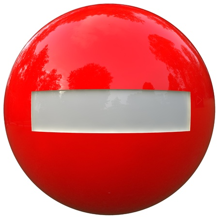 no trespassing ball in 3d isolated on white with clipping path photo