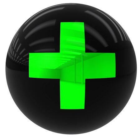 sum: 3D simulation of a ball with the sum symbol isolated and with clipping path Stock Photo