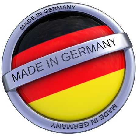 made in germany symbol in 3d isolated with clipping path and alpha channel Stock Photo - 21171324