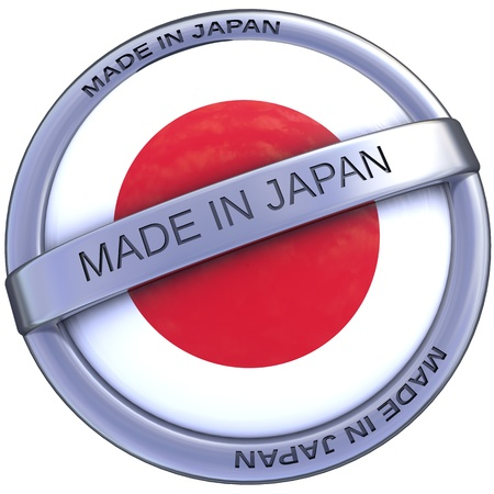 indeed: made in japan symbol in 3d isolated with clipping path and alpha channel