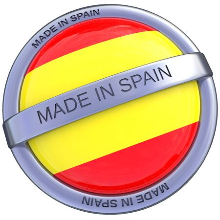 indeed: made in Spain symbol in 3d isolated with clipping path and alpha channel