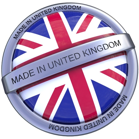 symbol made ​​in the United Kingdom in 3d isolated with clipping path and alpha channel photo