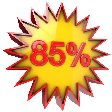 achtzig: Erm��igte Sterne f�nfundachtzig Prozent in 3d mit Clipping-Pfad und Alphakanal isoliert Lizenzfreie Bilder