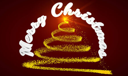 Christmas greeting cards concept done in 3d photo