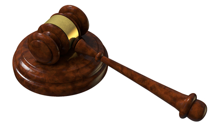 convicted: justice gavel wood 3d rendering with clipping path