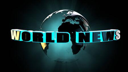 headboard: World news concept 3d rendering. Stock Photo