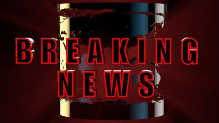 breaking: concept of breaking news 3d rendering.