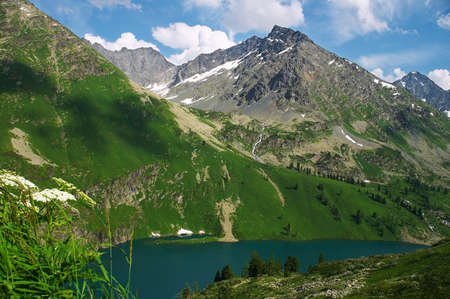 altay: silent lake from altay mountains