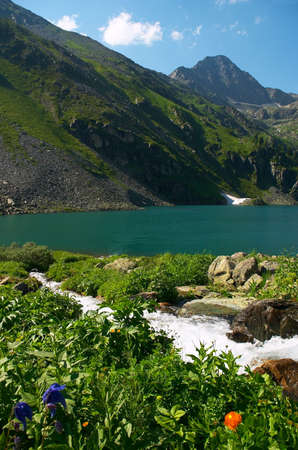 altay: Silent lake, Altay Russia Stock Photo