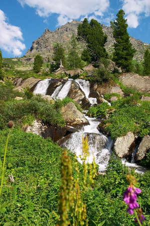 altay: Small waterfall from altay