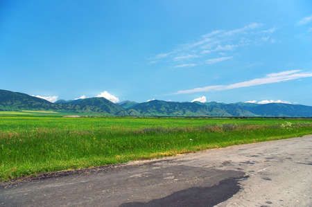 green fields and blue skies, Altay photo