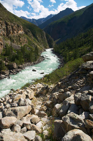 altay: Milk river in the mountains, Altay Stock Photo