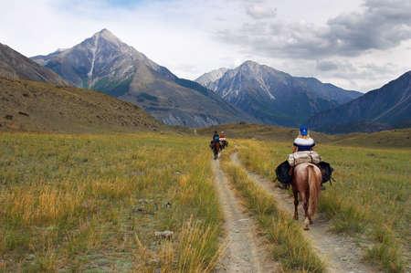 altay: women on horseback. Altay