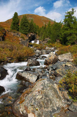 altay: cascade river, Altay Stock Photo