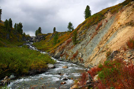 altay: river in canyon, Altay