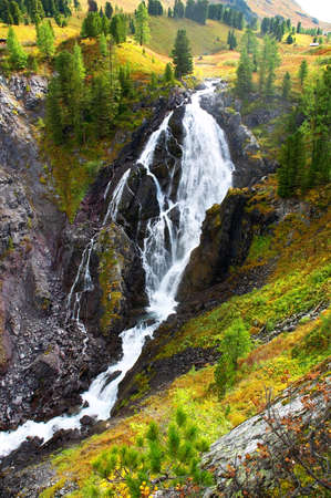altay: big waterfall, Altay