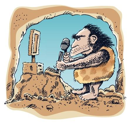 caveman: Caveman ordenador