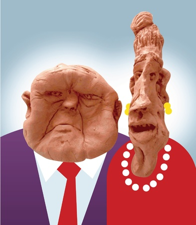 Regal Couple Illustration