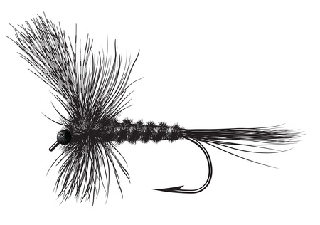 Hand Tied Dry Fly Vector