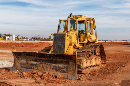 Dozer on a construction site  Imagens