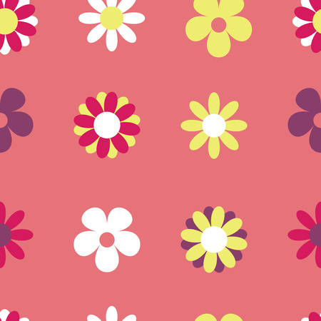 Vector Pink Seamless Pattern Background