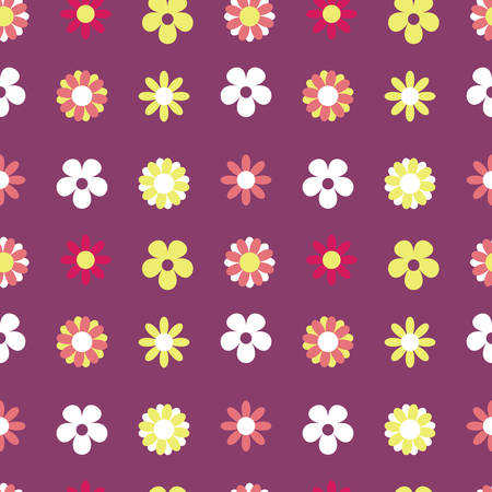 Vector Purple Background Floral Seamless Pattern Imagens - 121857285