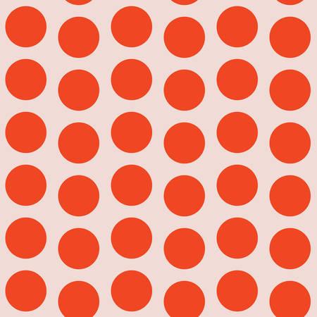 Coral Pink Half Drop Seamless Pattern