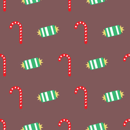 Christmas candy cane holiday pattern