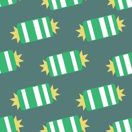 Christmas candy seamless pattern