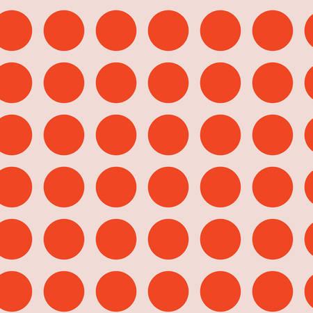 Coral Pink Polka Dot Seamless Pattern