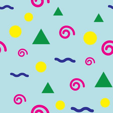 Retro confetti geometric pattern
