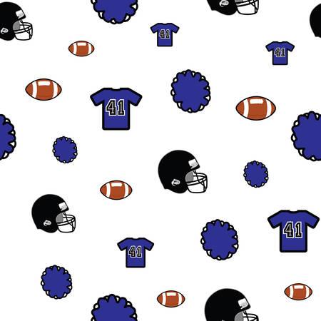 Football vector seamless pattern