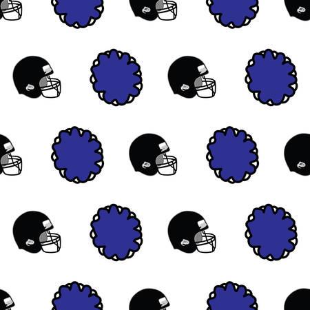 Vector Seamless Pattern Football