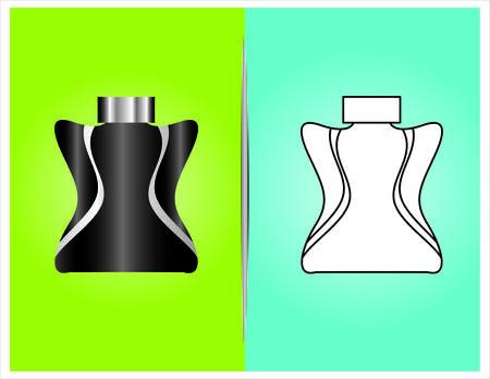 bottle and packaging set of perfume bottles vector format Vector