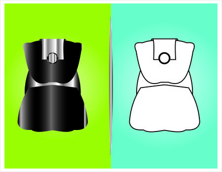 vaporizer: bottle and packaging set of perfume bottles vector format