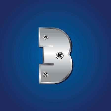 numerical value: vector set of Blue metallic fonts