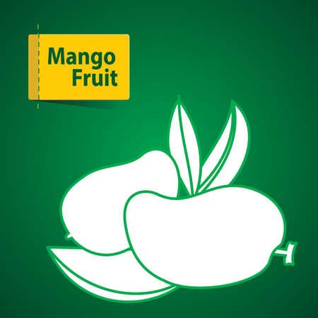 mango slice: illustration of fruits