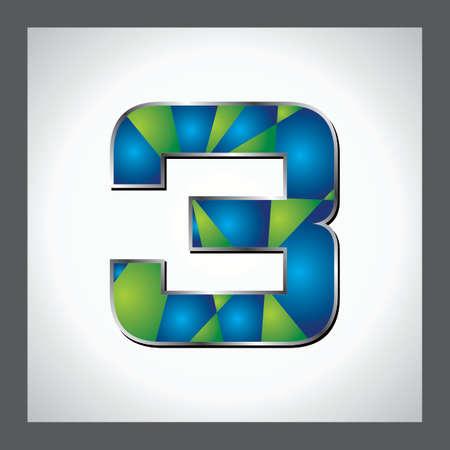 numerical value: Golden blue  alphabet  A to z