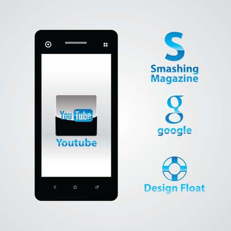 scrollbar: Blue Icon template elements