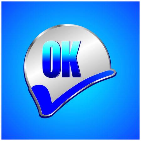ok icon: Ok icon Illustration