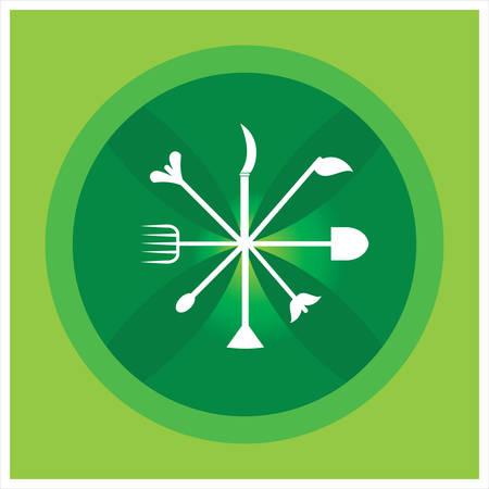 gardening hose: Gardening, agriculture   harvesting  Vector illustration