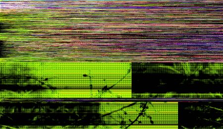 Glitch Art Standard-Bild