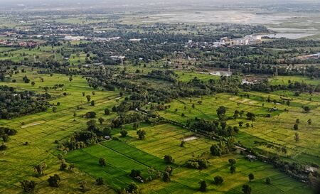 khon: Aerial view of Khon kaen city in Thailand