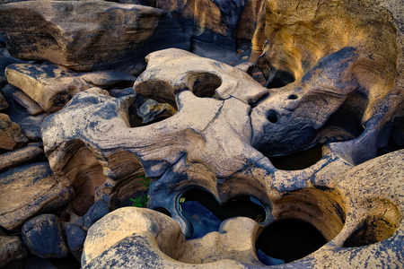 rive: Closeup rock in  rive : Thailand Stock Photo